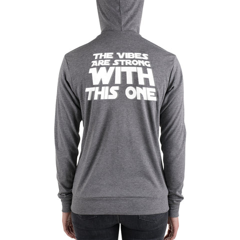 Image of Eliminate The Ego Strong Vibes | Unisex zip hoodie
