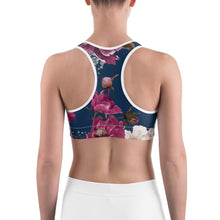 Load image into Gallery viewer, Royal Floral Women's Sports Bra Top