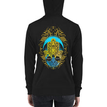 Load image into Gallery viewer, Spirit Love Hamsa Hand | Lightweight zip hoodie