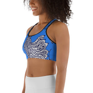 Peacock Summer Women's Yoga Sports Bra Top