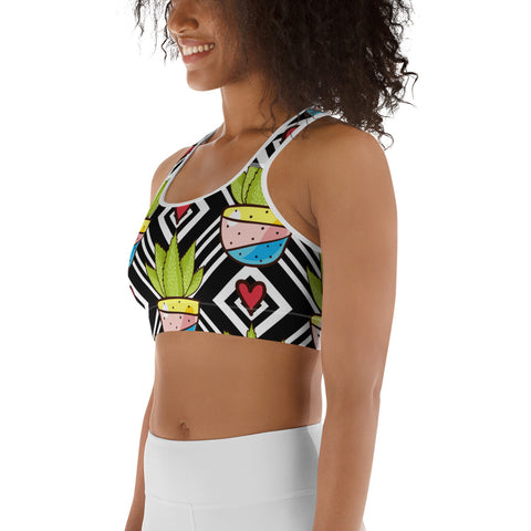 Image of Love All Plants | Cactus Love Sports bra