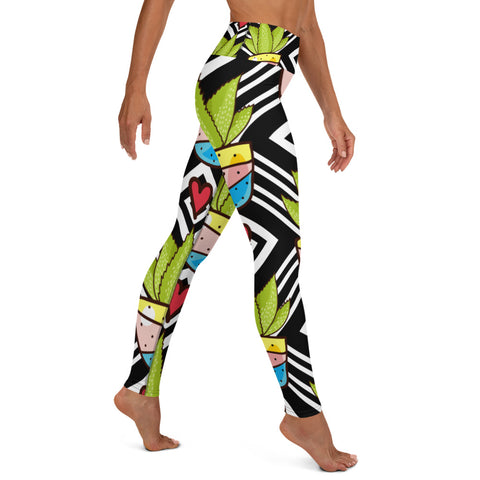 Love All Plants | Cactus Love Yoga Leggings