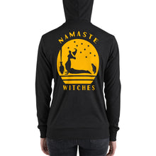 Load image into Gallery viewer, Namaste Witches | Halloween Unisex zip up hoodie
