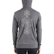 Load image into Gallery viewer, Sacred Geometry | Unisex zip hoodie