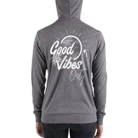 Image of Good Vibes Only | Unisex zip up hoodie