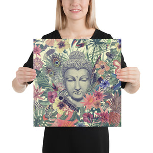 Peacock Energy | Buddha Head Canvas