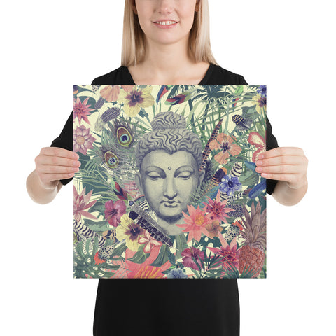 Image of Peacock Energy | Buddha Head Canvas