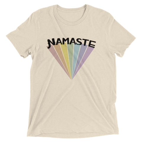 Image of Namaste | 7 Chakra Rainbow Unisex Short sleeve t-shirt
