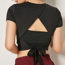 Load image into Gallery viewer, Backless Breathable Yoga Top