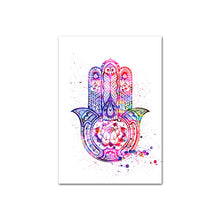 Load image into Gallery viewer, Hamsa Flower or Life Yoga Canvas Art