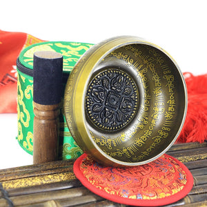 Tibetan Chakra Healing Meditation Singing Bowl Set With Mallet