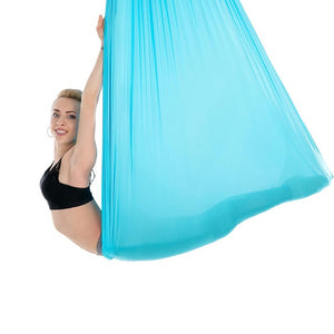 Aerial Yoga Hammock Swing Includes Daisy Chain/Carabiner