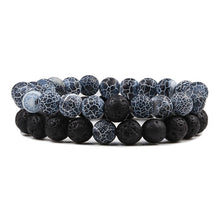 Load image into Gallery viewer, Natural Lava Stone Stretch Bracelets