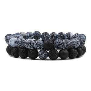 Natural Lava Stone Stretch Bracelets