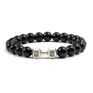 Handmade Dumbbell  Natural Stone Yoga Bangles