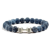 Load image into Gallery viewer, Handmade Dumbbell  Natural Stone Yoga Bangles