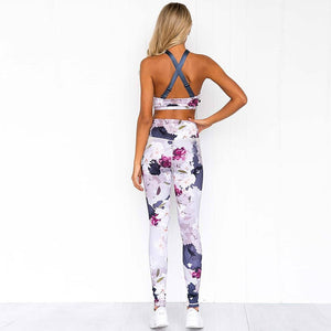 Sport Suit Padded Sports Bra Slim Yoga Leggings Two-piece Yoga Set