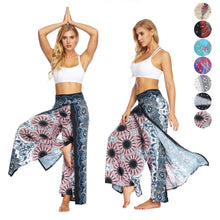 Load image into Gallery viewer, Mandala Open Leg Pants Bohemian Yoga Pants