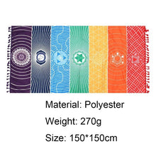 Load image into Gallery viewer, Non-slip Cotton Yoga Mat/Blanket Bohemia Mandala Rainbow