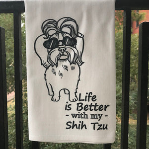 Shih Tzu Dog Towel