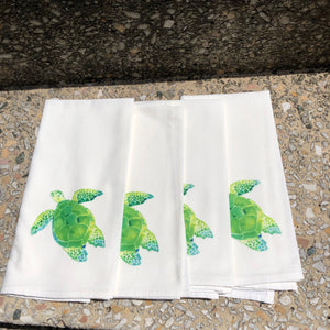 Watercolor Turtle Dinner Napkins