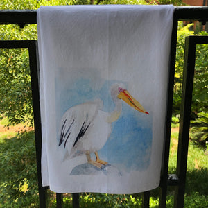 Watercolor Pelican Towel