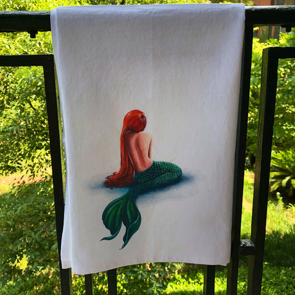 Watercolor Mermaid Towel