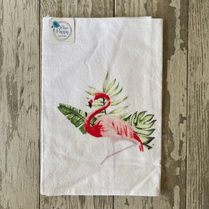 Watercolor Flamingo Towel