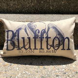 """Your Town"" Canvas Oyster Pillow"