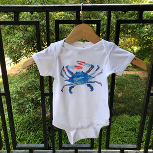 Watercolor Crab Onesie