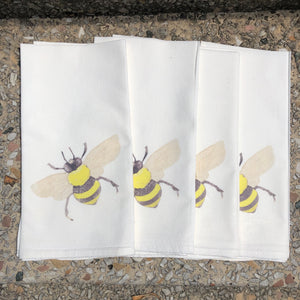 Watercolor Bee Dinner Napkins