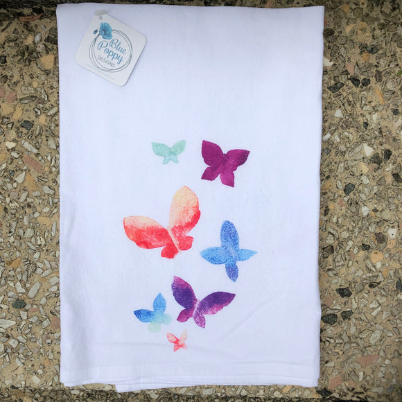 Watercolor Butterfly Towel