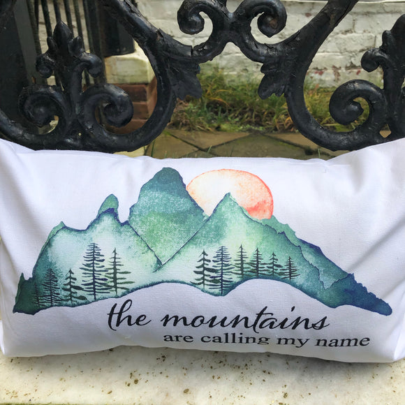 The Mountains are Calling My Name Rectangle Pillow