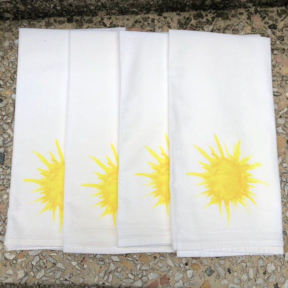 Watercolor Sun Dinner Napkins