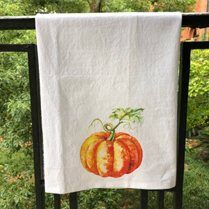 Watercolor Pumpkin Towel