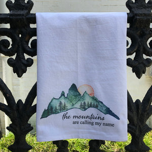 Watercolor Mountains Towel