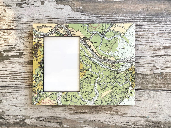 Nautical Map Picture Frame