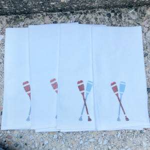 Watercolor Oars Dinner Napkins