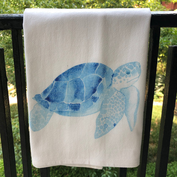 Blue Turtle Kitchen Towel