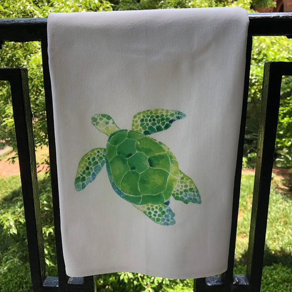 Turtle Watercolor Towel