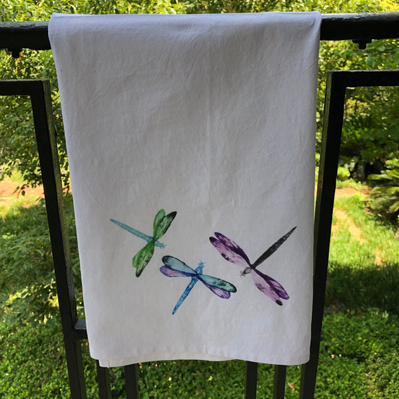 Watercolor Dragonfly Towel