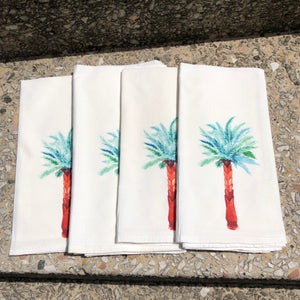 Watercolor Palm Tree Dinner Napkins