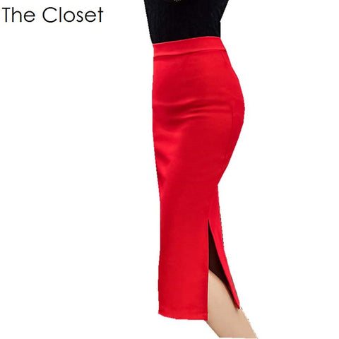 Vintage Pencil Skirt (Black or Red)