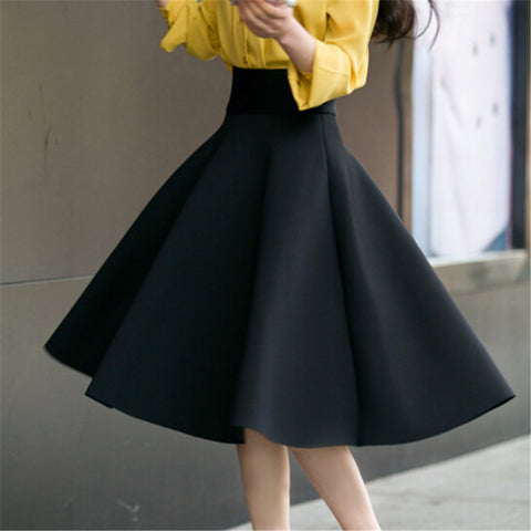 Vintage High Waisted Flowing Swing Skirts (Various Colors)