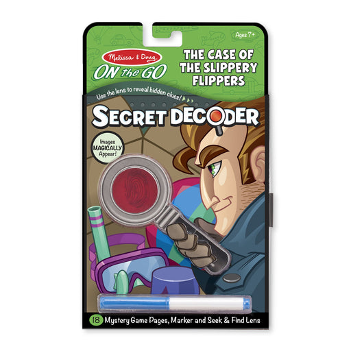 Melissa & Doug Secret Decoder The Case of The Slippery Flippers