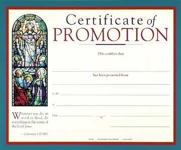 Full-Color Promotion All Ages Certificate (Package of 6)
