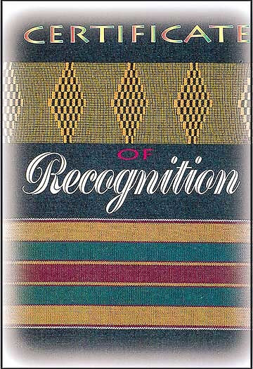 African American - Recognition Certificate (Package of 6)