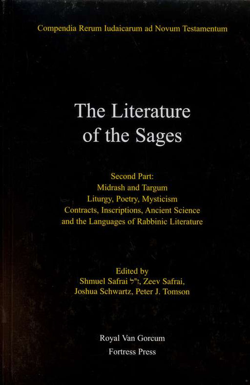 Literature Of The Sages Sec Pt