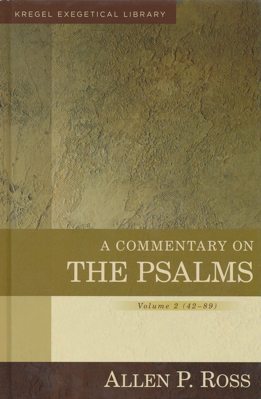 Commentary on the Psalms: 42-89, A