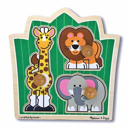 Melissa & Doug Jungle Friends  Jumbo Knob Puzzle